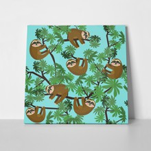 Pattern cute jungle sloths 666198391 a