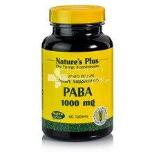 Natures Plus PABA (Para Aminobenzoic Acid) 1000mg, 60tabs