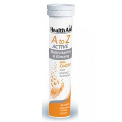 Health Aid Α to Z Active Multivitamins & Ginseng CoQ10 20 αναβράζοντα δισκία