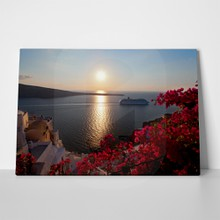 Sunset in caldera santorini 120292912 a