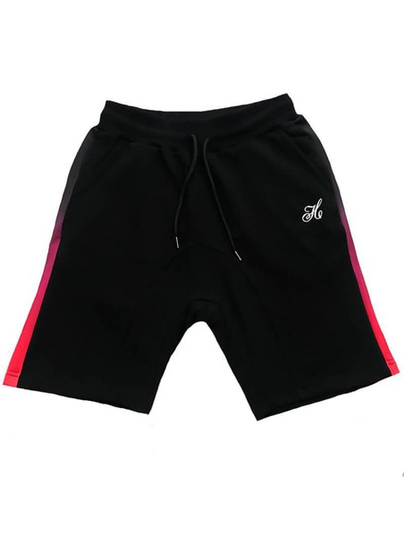 HENRY CLOTHING BLACK STRIPE SHORTS