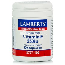 Lamberts Vitamin E Natural 250iu, 100caps