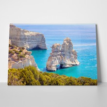 Milos beautiful seascape view kleftiko rocky 613431371 a