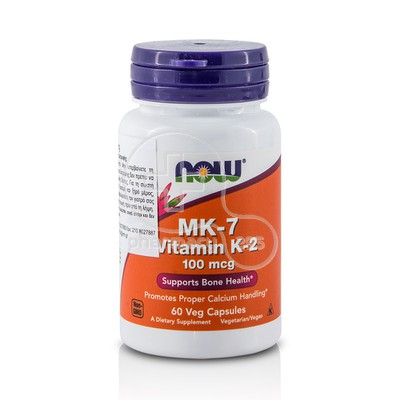 NOW - MK-7 Vitamin K-2 100mcg - 60caps