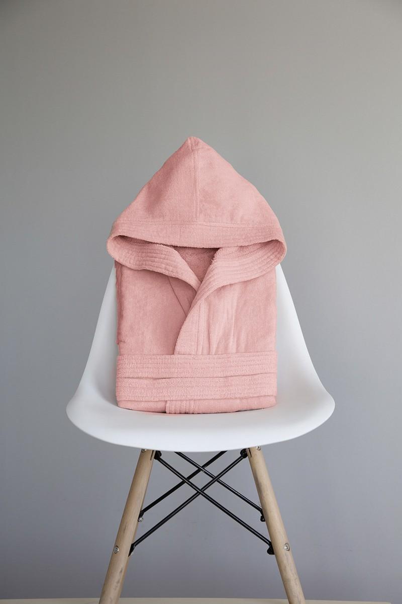 4af92b5463be Μπουρνούζι με κουκούλα Zen - Strawberry Pink