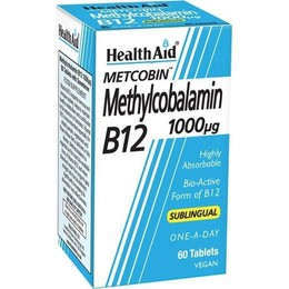 Health Aid Methylcobalamin Metcobin B12 1000mg 60Ταμπλέτες