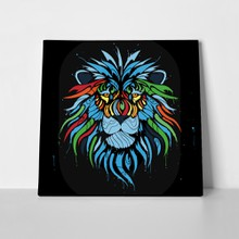 Lion colors black a