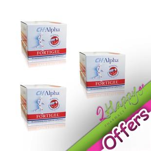 Vivapharm CH-Alpha Fortigel Υγρό Πόσιμο Κολλαγόνο 30 φιαλίδια 3 Μαζί σε Τιμή Προσφοράς. Ειδική πατέντα που ενισχύει τις αρθρώσεις και υποστηρίζει την αναγέννηση των χόνδρων.