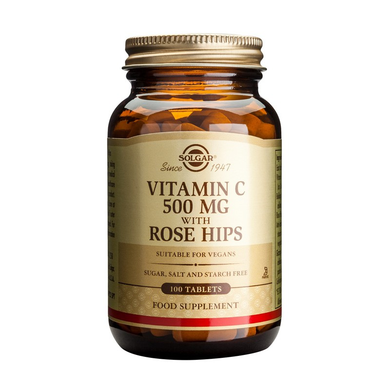 Vitamin C with Rose Hips 500mg tablets