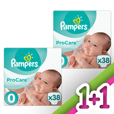 Pampers Pro Care Premium Protection No 0 (1-2,5Kg) Πάνες 38 Τμχ 1+1 Δώρο.