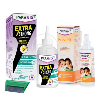 PARANIX - PROMO PACK EXTRA STRONG Σαμπουάν - 200ml & Prevent - 100ml