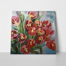 Decorative red yellow tulips 1059185096 a