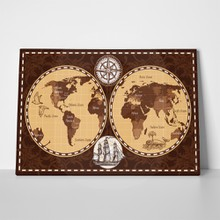 Brown retro nautical world map 496605805 a