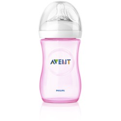 Philips Avent Natural Bottle 260ml Ροζ - Bpa Free