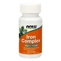 NOW IRON COMPLEX 100 TABS