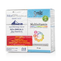 MINAMI - PROMO PACK  MorEPA Platinum Smart Fats 90% Supercritical Omega 3 Fish Oil - 60softgels ΜΕ ΔΩΡΟ SMILE - Multivitamin - 60caps