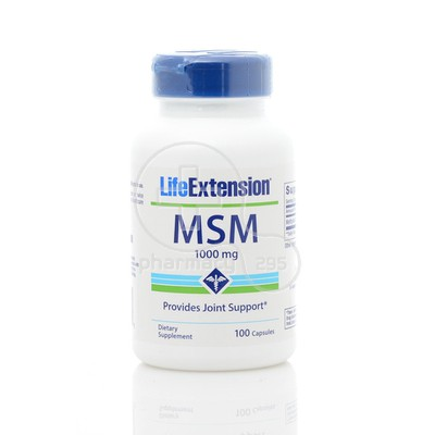 LIFE EXTENSION MSM 1000mg 100caps