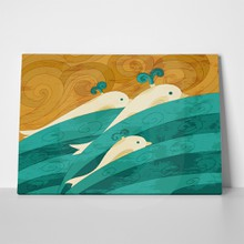 Dolphins waves illustration 120866566 a