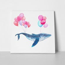 Watercolour whale and balloons 454102264 a