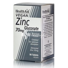 Health Aid ZINC Gluconate 70mg, 90tabs
