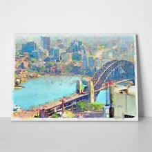 Illustration sydney harbour bridge 265598795 a