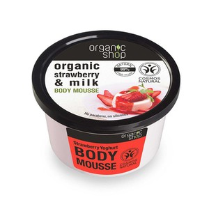 Body mousse with strawberry   milk 250ml