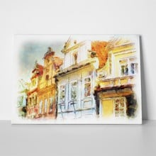 Old prague architectural watercolor 35056960 a