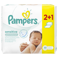 PAMPERS BABY WIPES SENSITIVE 3X56
