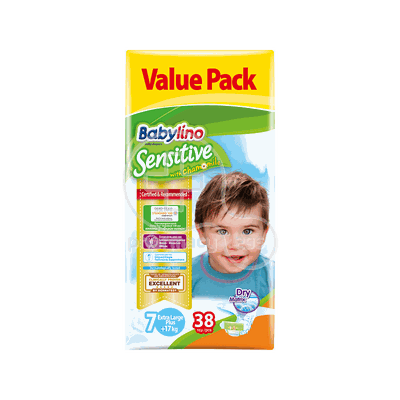 BABYLINO - VALUE PACK Sensitive Extra Large Plus No7 (17+kg) - 38 πάνες