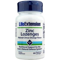 LIFE EXTENSION ZINC 18.75MG 60VEG.LOZENGES