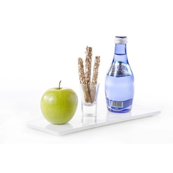 Greek Sparkling Water with Grissini and Green Apple