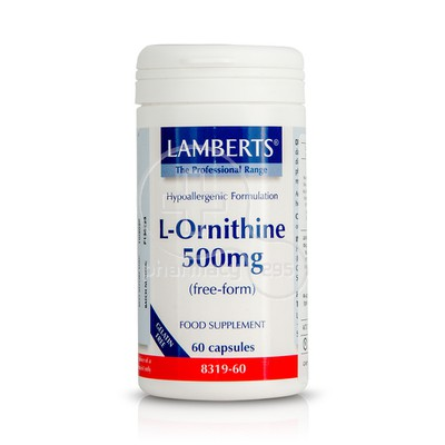 LAMBERTS - L-Ornithine 500mg - 60caps