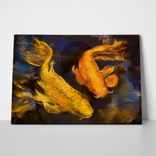 Golden fish pastel painting 269796407 a