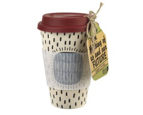 Cambridge Κούπα Bamboo με Κεραμιδί Καπάκι Morning Person 470ml