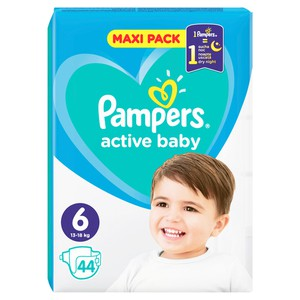 PAMPERS Active baby dry N6 πάνα για μωρά 15+ kg Jumbo pack 42τεμάχια