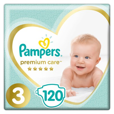 (STOP)Pampers - Premium Care Mega Pack No3 Midi (5-9 kg) Βρεφικές Πάνες - 120 τεμάχια (Mega Pack)