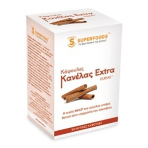 Superfoods food supplement cinnamon extra eubias 50caps