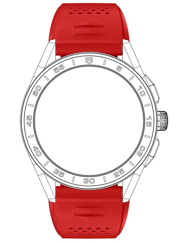 Connected Red Rubber Strap