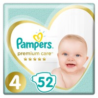 Pampers Premium Care No4 (9-14kg) 52 Πάνες