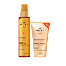 Nuxe PROMO PACK Sun Tanning Oil High Protection SPF30 150ml & ΔΩΡΟ Refreshing After-Sun Lotion Face & Body 100ml.