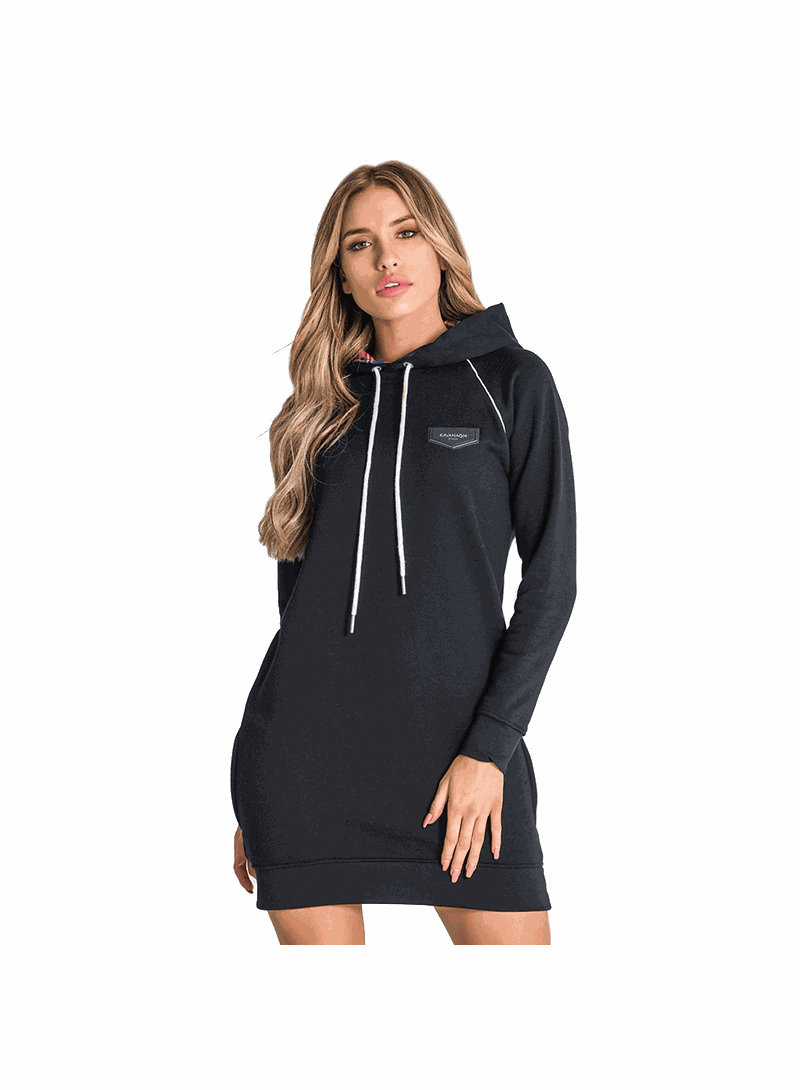 Gianni Kavanagh Black Scottish Hoodie Dress