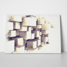 Abstract painting cubes