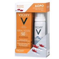 Vichy Promo Ideal Soleil Velvety Cream SPF50+ 50ml & Δώρο Eau Thermale Spray 50ml