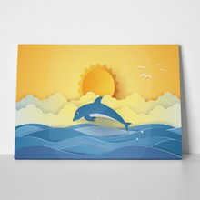 Summer time jumping dolphin 1039860685 a