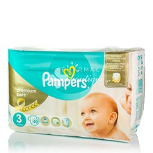 Pampers No.3 (5-9 kg) - Premium Care, 40τμχ.