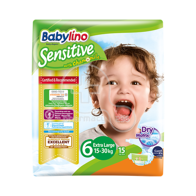 BABYLINO - Babylino Sensitive Extra Large No6 (15-30 Kg) - 15 πάνες