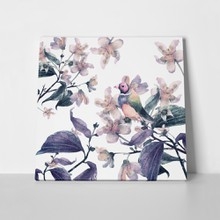 Watercolor beautiful blooming branch jasmine flowers 442206685 a