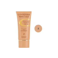 Coverderm Perfect Face SPF20 No 3 Αδιάβροχο Κρεμώδες Make Up 30ml