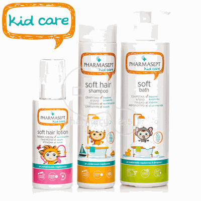 PHARMASEPT - PROMO PACK KID CARE Soft Hair Shampoo - 300ml, Soft Bath - 500ml & Soft Hair Lotion - 150ml