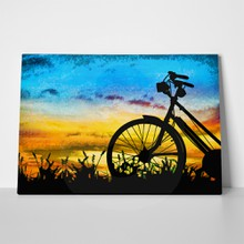 Bicycle oil painting 747436006 a